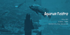 Blue Toned Aquarium Fieldtrip Event Facebook Banner  Event Banner