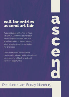 Violet and White Ascend Poster Fairs
