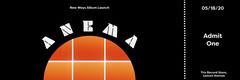 Black and Orange Circle Grid Album Release Concert Ticket  Launch