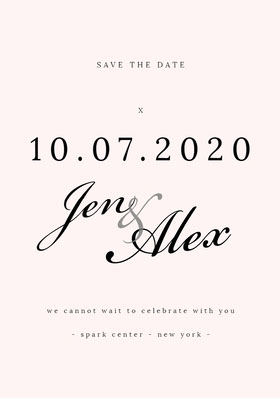 & Save the Date Card