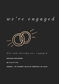 we're engaged Engagement Invitation