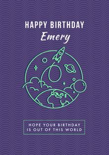 birthdaycard Cartão de aniversário