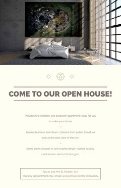 COME TO OUR OPEN HOUSE! Open House Flyer