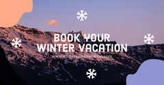 Book Your Winter Vacation Facebook Advert Vacation