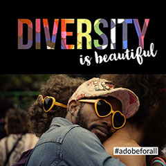 Black, White and Rainbow Diversity LGBT+ Instagram Post Love