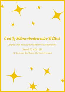C'est Le 50ème Anniversaire D'Élise!  Invitation