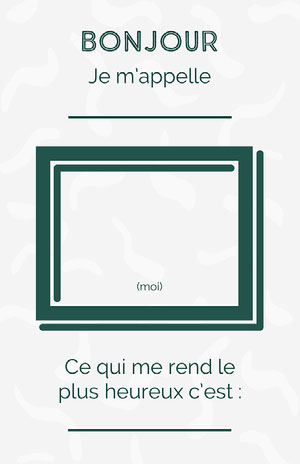 green grey hello my name is - poster Fiche d'exercices
