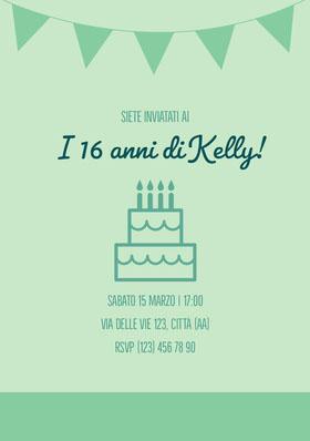 I 16 anni di Kelly! Invito al compleanno