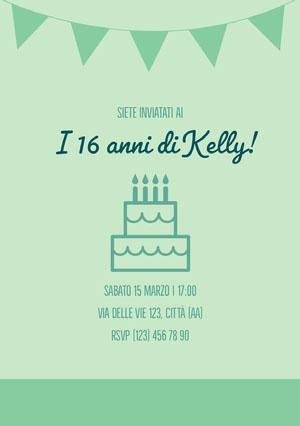 I 16 anni di Kelly! Invito a una festa