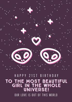 birthday card for woman  Birthday Invitation (Girl)