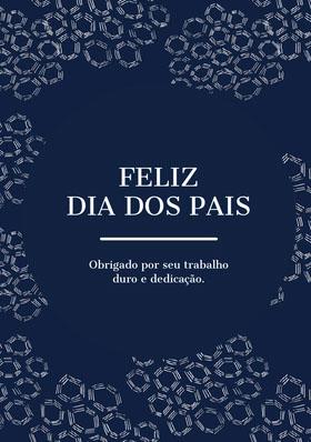 navy blue and white textured Father's Day cards  Cartão de agradecimento