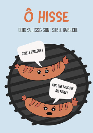 Blue Orange O Hoist Hotdog Comic A5 bandes dessinées