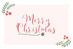 Green and Red Merry Christmas Postcard Christmas