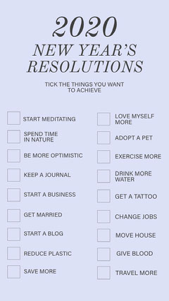 New Years Resolution things instagramstory Tattoo Flyer