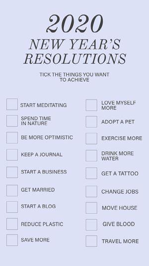 New Years Resolution things instagramstory Goal-Setting Worksheet