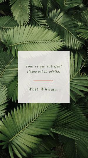 Walt Whitman Affiche de motivation