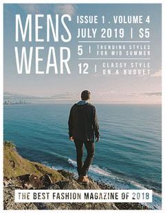 MENS<BR>WEAR Fashion Magazines Cover