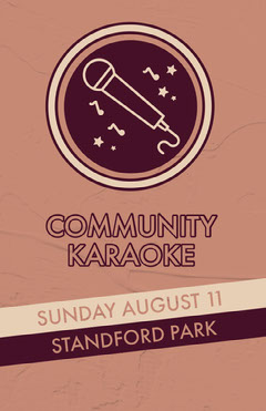 Claret and Pink Community Karaoke Event Poster Karaoke Flyer