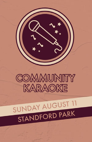 Claret and Pink Community Karaoke Event Poster Event Poster