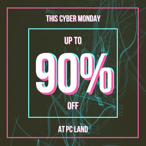 Pink and Blue Neon Cyber Monday Sale Instagram Square Black Friday