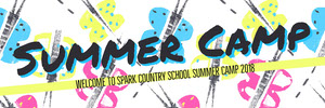 Colorful Welcome to Summer Camp Banner Banneri