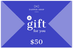 Blue and White Shop Gift Voucher Gift Card