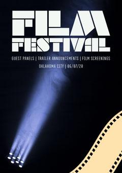 Dark Blue and Yellow Spotlight Modern Film Festival Poster Film Festival Poster