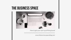 black and white office business start up blog banner Career Poster