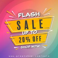 yellow multicolored flash sale instagram square Sale Flyer