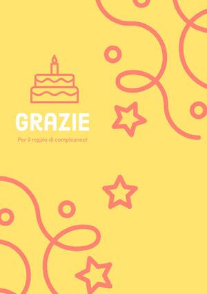 birthday present thank you cards  Biglietto di ringraziamento