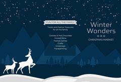Navy & Blue Winter Woods Themed Brochure  Forest