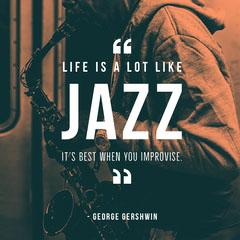 White Jazz Instagram Graphic Jazz