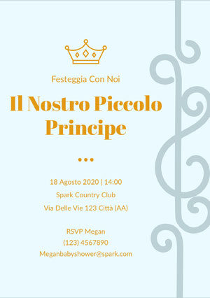 our little prince baby shower invitations   Invito per baby shower
