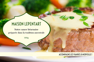 Yellow and Green Béarnaise Sauce Product Label  Étiquette