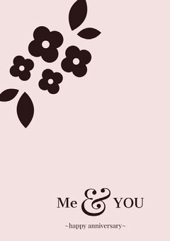 Pink Floral Anniversary Card Couple