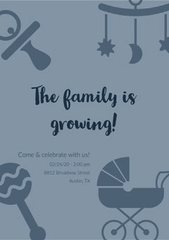 The family is growing! Baby Shower