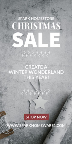 White and Grey, Light Toned Christmas Sale Ad Instagram Story Holiday Sale