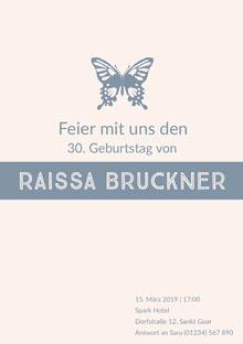 Raissa Bruckner  Einladung