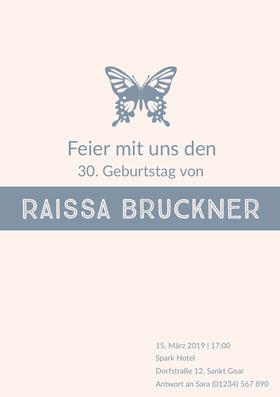 Raissa Bruckner  Einladung zum Geburtstag