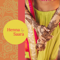 Yellow and Orange Henna Promotion Tattoo Flyer