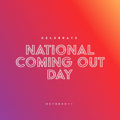 red gradient national coming out day instagram  Celebration