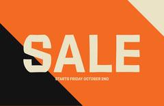 Tri color Sale Type Landscape Poster Discount