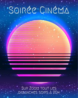 Neon Pink and orange sun starry sky Movie Night Instagram portrait Prospectus