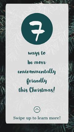 Green Environmental Christmas Instagram Story  Instagram Story
