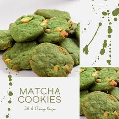 grey and green matcha cookie recipe instagram  Dessert