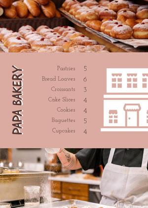 Brown and White Bakery Menu Menu