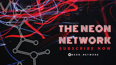 Black and Red Neon Network Banner Neon