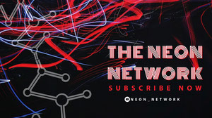 Black and Red Neon Network Banner Banneri
