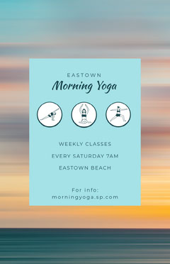 morning yoga flyer  Exercises
