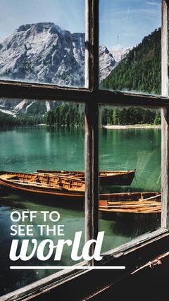 Light Toned Travel Catchphrase Instagram Story Boats